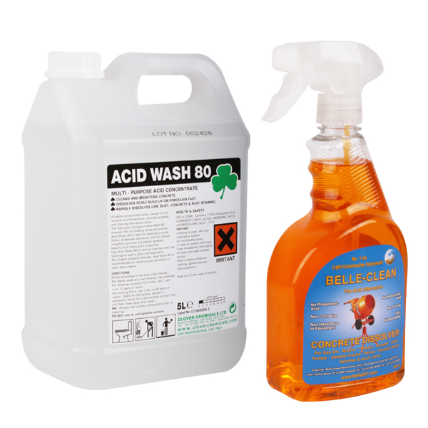 Easy safe concrete remover dissolver 750ml brickwork patio for Hydrochloric acid for cleaning concrete