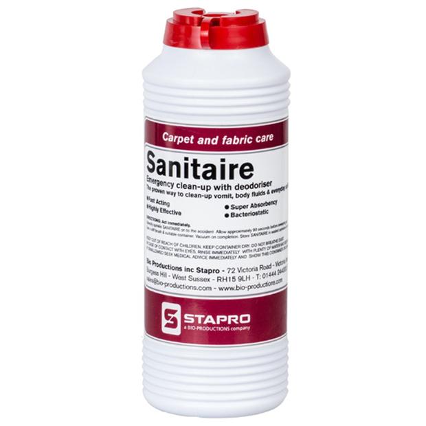 sanitaire clean up powder kit emergency carpet vomit urine body fluid spill. Black Bedroom Furniture Sets. Home Design Ideas
