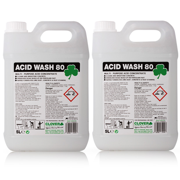 Acid wash patio brickwork stone concrete remover cleaner for Best chemical to clean concrete