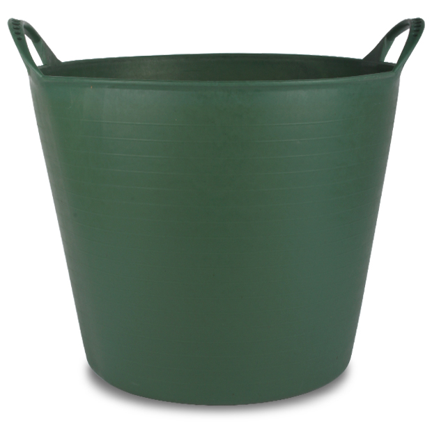 2 Pack Of 26L Extra Strong Green Flexi Tub Storage Bucket